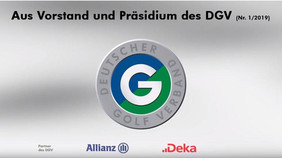 Aus Vorstand und Präsidium des Deutschen Golf Verbandes (Nr. 1/2019) (Bild: DGV)