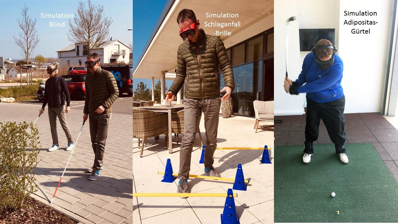 Golf&Inklusion: Simulation von Beschwerden
