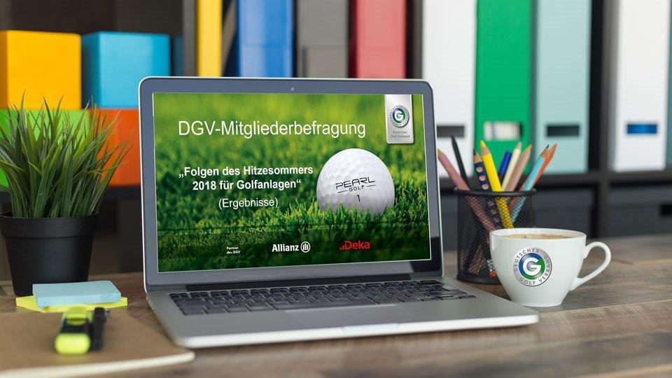 Ergebnisse der DGV-Mitgliederbefragung Folgen des Hitzesommers 2018 für Golfanlagen (Bild: cnythzl)