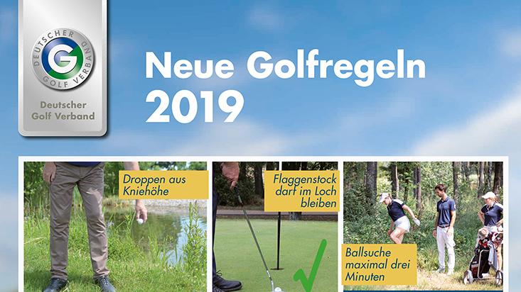 Die neuen Golfregeln ab 2019 - hier ein Ausschnitt aus dem offiziellen Plakat des DGV