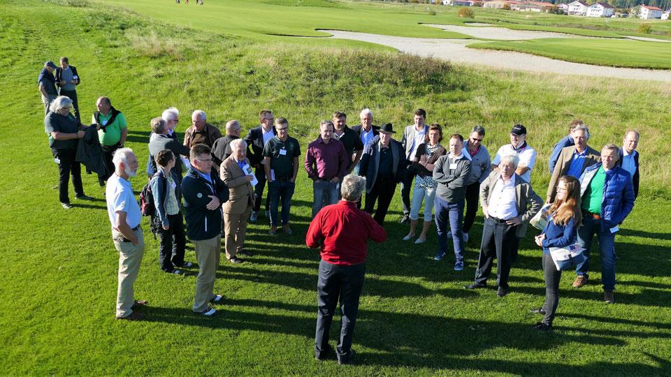 Platzbesichtigung mit Michael Weichselgartner auf dem Golfplatz Valley