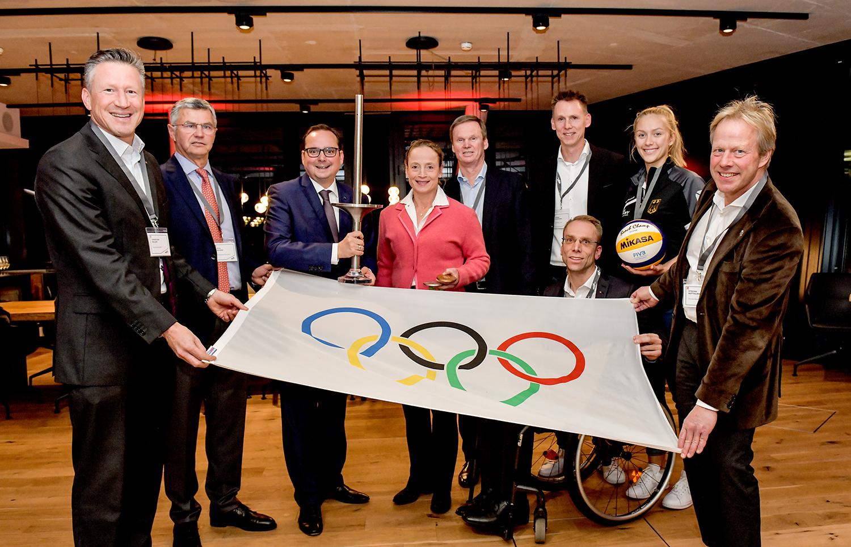 Essen im Olympia-Fieber. Ralf Bockstedte ist Botschafter der Bewerbung Rhein Ruhr 2032. (Foto: FUNKE Foto Services)
