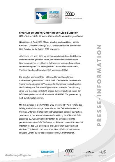 Pressemitteilung: smart up solutions GmbH neuer Liga-Supplier