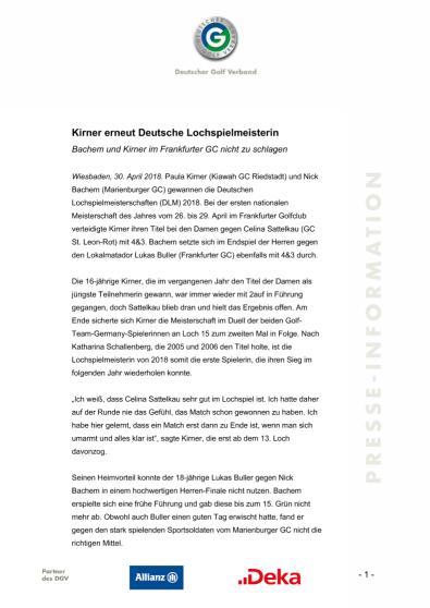 Pressemitteilung: Kirner verteidigt Titel