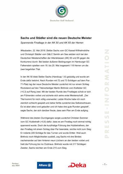 Pressemitteilung: Sachs und Staedler sind die neuen Deutschen Meister