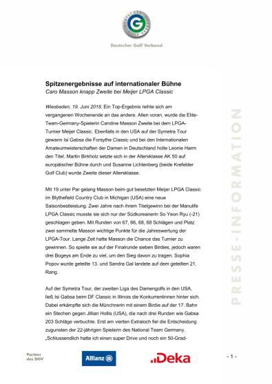 Pressemitteilung: Spitzenergebnisse auf internaitionaler Bühne