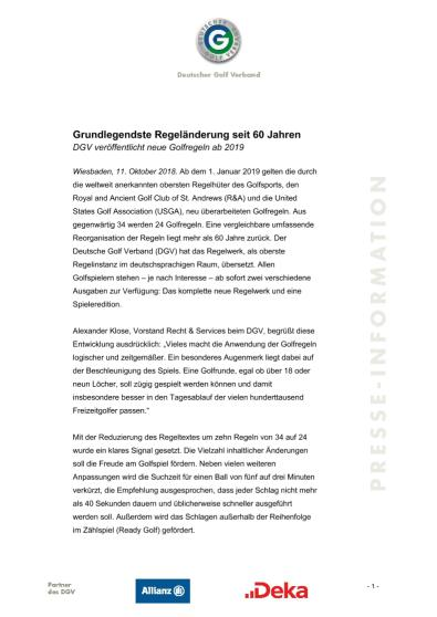 Pressemitteilung: Grundlegendste Regeländerung seit 60 Jahren