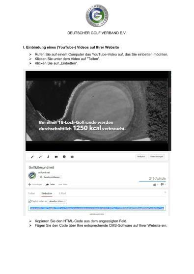 Videos auf Website einbinden