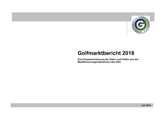 DGV-Golfmarktbericht 2018