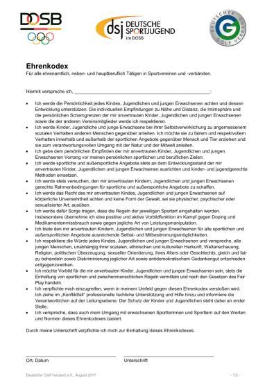 Ehrenkodex: Gegen sexualisierte Gewalt im Sport