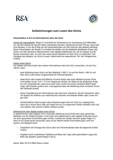 Grünbuch 2019
