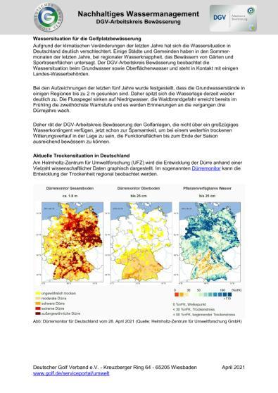 Infoblatt Nachhaltiges Bewässerungsmanagement