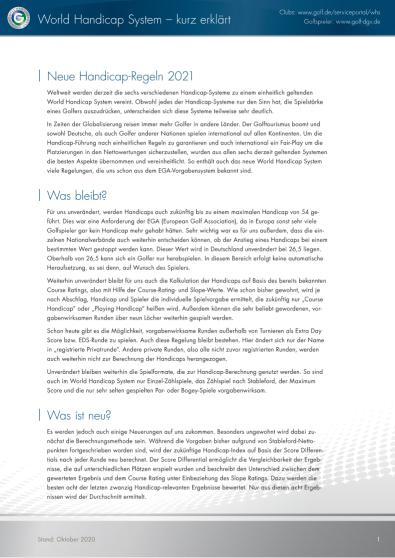 Merkblatt WHS kurz erklärt