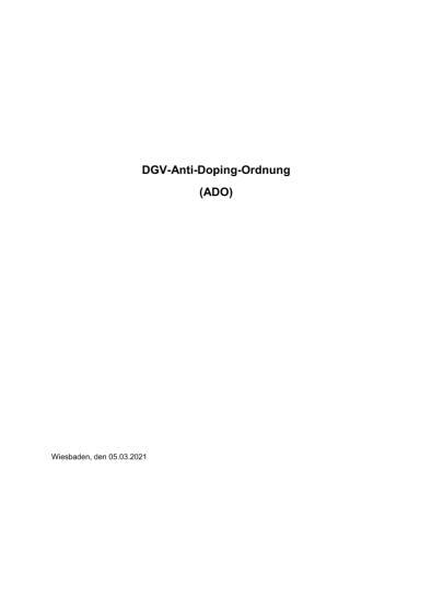 Anti-Doping-Ordnung