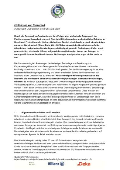 Anlage zum DGV-Bulletin 5 (KUG)