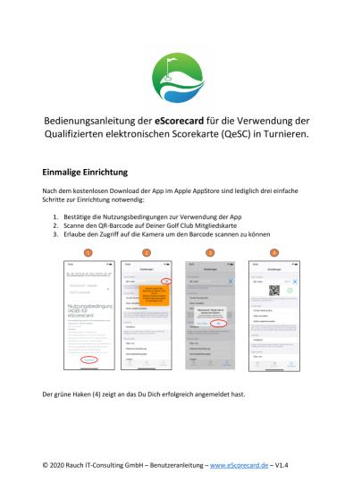 eScoreCard: Kurzbedienung QeSC