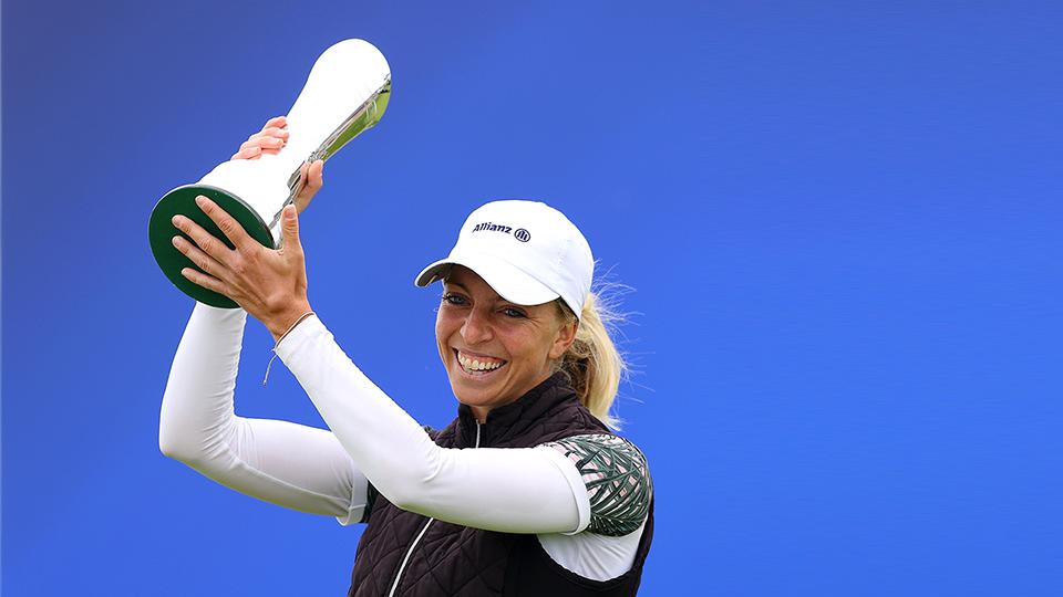 Sophia Popov zeigte sich überglücklich ihrem Sieg (Foto: golfsupport.nl/R&A)